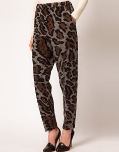 Enlarge ASOS Trackpants in Oversized Leopard Print