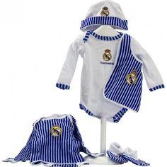 Cesta Real Madrid 2 - Canastilla para bebe del Real Madrid con productos de licencia Oficial y de Temporada - Envíos a Toda España