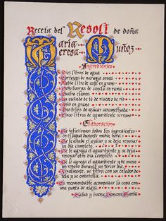 Receta de Resoli definitivo Gothic Script, Initial Art, How To Write Calligraphy, Beautiful Fonts, Letter Writing, Illuminated Manuscript, Book Of Shadows, Colouring Pages, Bible Scriptures