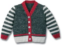 {Standard and custom baby robe, creates the best answer. Toddler Sweater, Knit Baby Sweaters, Boys Sweaters, Boys Knitting Patterns Free, Knitting Designs, Pregnancy Fashion Winter, Baby Cardigan, Pulls, Toddler Cardigan
