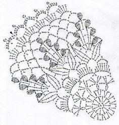 リンドウのドイリー(編み図付き、りんどう、竜胆)の画像:Crochet a little