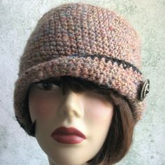 Free Crochet Flapper Cloche Pattern | Crochet Pattern Womens FLAPPER HAT Cloche With Close Fitted Brim PDF ...