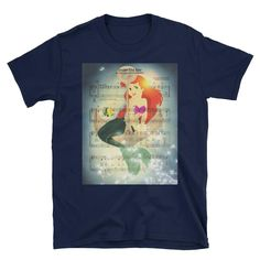 Arial Little Mermaid Music Score Illustration Short-Sleeve Unisex T-Shirt Nerdy Shirts, Music Score, The Little Mermaid, Unisex, Sleeve, Awesome, Illustration, Mens Tops, T Shirt