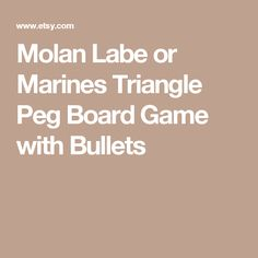 Molan Labe Or Marine Peg Board Bullet Game W Real Bullets Made In USA Gift For Men Boyfriend Marines