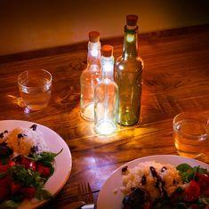 Botella de Vino con Luz Corcho LED