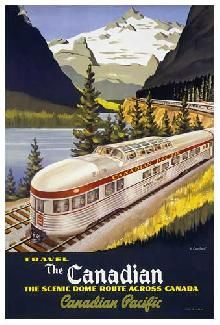CP Rail Archives Archive Ski And Train Posters  Travel The Canadian (1710-0322) (EGR1710-0322) how I want this.....please Santa