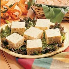 Picnic Potato Squares Salad Recipe -I'M ALWAYS on the lookout for new and unique recipes. Firm and cut into squares, this potato salad looks different than the usual ones, and the dill pickle gives it a unique flavor.    It also travels well and is pretty served on salad greens. -Susan Furrow, Canterbury, New Brunswick