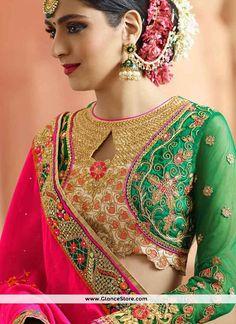 Catchy Embroidered Work Designer Half N Half Saree