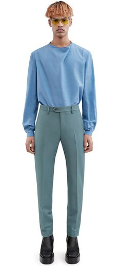 Acne Studios Drifter t pw mh balsam green Slim fit trousers