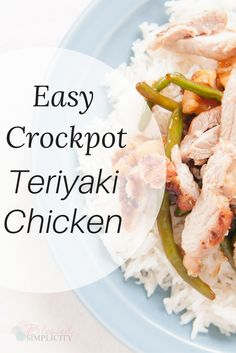 Delicious Teriyaki chicken recipe is super simple and fits the 21 day fix, and trim healthy mama plans. Plus, it is once a month cooking friendly.