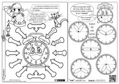 Trucos para aprender la hora Spanish Teacher, Teaching Spanish, Math Clock, Some Ideas, Projects To Try, Bullet Journal, Education, Learning, School