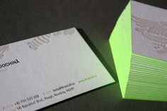 BusinessCard #print #branding #inspiration #businesscard #fluo