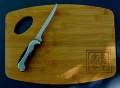 Custom Monogram Bamboo Cutting Board, engraved bamboo cutting board, cheese…