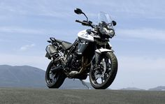 The new Tiger 800 XR in Crystal White.