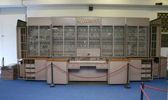 Behind the Iron Curtain, Soviet computer technology kept up with the main stream of computing. Like this only remaining piece in Hungary, the URAL-2.
