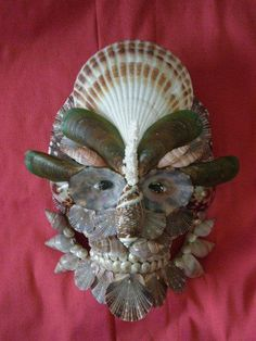 Seashell mask from Christa's South Seashells.
