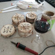 Personalized Coasters - Wood Coasters - Tree Coasters - Custom Coasters With Your Logo or Name- Set of 4 Personalized Coasters, Custom Coasters, Wood Coasters, Wood Slice Crafts, Wood Burning Crafts, Log Slices, Tree Slices, Birch Logs, Photographer Gifts