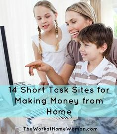 If you have a little one at home — you know how difficult it can be to get things done. But just because you have a household filled with chatter and unpredictable schedules, doesn't mean that you can't work from home. Short tasks maybe the perfect work at home gig for you: #workathome #WAHM WAHM #workathomemom work at home mom