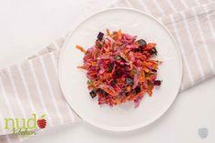 Ensalada roja. Rábanos, zanahoria, y remolacha asada con vinagreta de cítricos.
