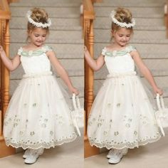 2016 New Simple Applique A Line Sleeveless Beach Flower Girl Dresses For Weddings Tea Length Crew Neckline Charming Vestido  //Price: $US $81.28 & FREE Shipping //     #fans #play #playing #player #field #green #grass #score   #goal #action #kick #throw #pass #win #winning