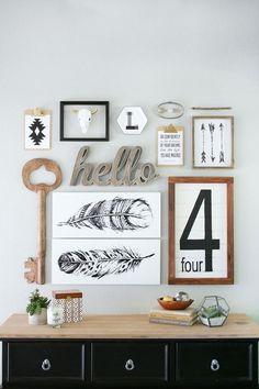 Tips: Geniales ideas para decorar nuestras paredes con cuadros - FRACTAL estudio + arquitectura