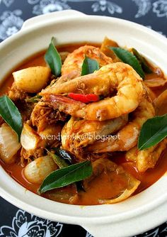 Table for 2.... or more: Indonesian Curry Prawns 印尼咖喱虾- Hee Hee Ha Ha #3