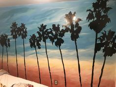 I did a background mural for my son's SoCal inspired room & ordered the palm decals. The service was exceptional; the product easy to cut down (shorter basement wall) and simple to install by following the instructions. Item shipped quickly to Canada within a number of days. So happy with how it turned out. Highly recommend! --Sherri M. California Palm Trees, Tree Decals, Basement Walls, Home Wall Decor, Tree Wall, Textured Walls, Vinyl Wall Decals, Wall Murals, Canada