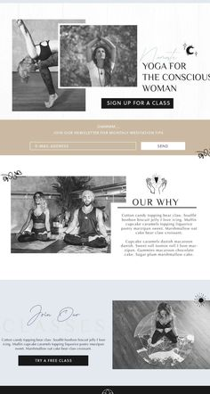 I love this cool tone web design for a local Yoga studio. We went with a simple clean line logo, and added some character with sketch drawings. See more projects like this at  #webdesign #yogawebsite #branding #webdesign