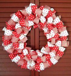 ❤ Karácsonyi masni koszorú - egyszerű koszorú házilag szalagokból ❤Mindy -  kreatív ötletek és dekorációk minden napra