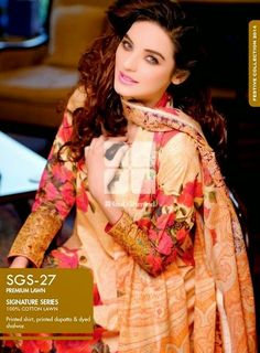 New Signature Lawn Dersses For Women By Gul Ahmed Latest Collection 2014 ~ Your Choice For Dress