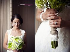Simple green wedding bouquet