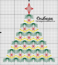 long stitch tree chart