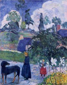 Paul Gauguin, Among the Lillies (1893). on ArtStack #paul-gauguin #art