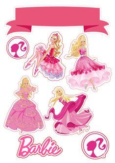 Barbie Theme Party, Barbie Birthday Cake, Diy Birthday, Princess Cupcake Toppers, Cupcake Toppers Free, Cupcakes Da Barbie, Bolo Barbie, Easy Disney Drawings, Barbie Images