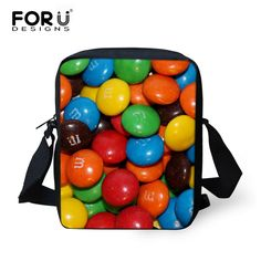 FORUDESIGNS Cute Girls Small School Bags Colorful 3D Candy Printed Kids Schoolbag Children Baby Student Bookbag Mochila Infant