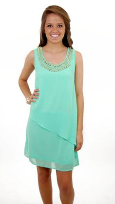 Neon Mint Dress :: NEW ARRIVALS :: The Blue Door Boutique