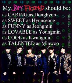 My Boyfriend Should Be: #kpop #Boyfriend #Kim Donghyun #Shim Hyunseong #Lee Jeongmin #Jo Youngmn #Jo Kwangmin #No Minwoo #My Boys