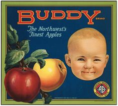 a lovely collection of many vintage produce crate labels on Flickr from the Boston Public Library.