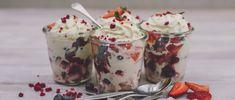 Smashed Meringue Berry Cups | Tatua Foods Meringue, Berry, Cups, Pudding, Foods, Desserts, Recipes, Flan, Food Food