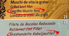 Die 25 besten Übersetzungsfehler auf Speisekarten!