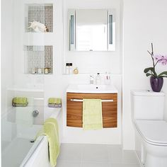 Modern white bathroom | housetohome.co.uk
