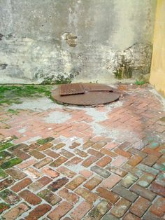 Brickwork and cistern in slave yard