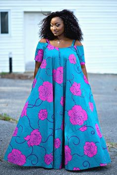 African stylish ankara gowns (With images) African Dresses For Kids, African Maxi Dresses, Latest African Fashion Dresses, African Print Fashion, African Attire, Ankara Gowns, Maxi Gowns, African Print Dress Designs, African Traditional Dresses