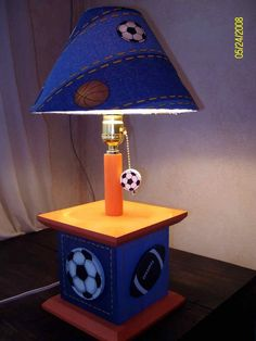 Sports Lamps for kids Childrens Lamps, Kids Lamps, Lampshade Designs, Wallpaper Pictures, Lamp Shades, Light Table, Boy Room, Baby Shower Gifts, Ten