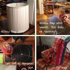 transform an ugly lampshade