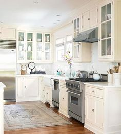Did your current kitchen cabinets make the cut on our top cabinetry trends list? If not, it may be time for a kitchen remodel. See our top picks for cabinet colors such as white or bright colors. And choose from different materials such as oak or even doorless cabinets.