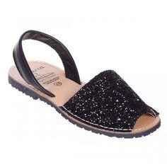 Sandale AVARCA din Glitter Negru Espadrilles, Shoes, Fashion, Sandals, Espadrilles Outfit, Moda, Zapatos, Shoes Outlet, Fasion