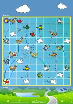 The flashy flying game for preschool, free printable English Games For Kids, Free Games For Kids, Mini Games, Games To Play, Printable Board Games, Free Printable, Flying Games, Board Game Design, Bird Theme