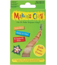 Makin's Clay Air Dry Clay-120gr/Earth Tones