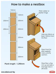 How to build a bird nestbox  RedShed